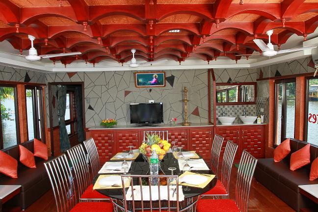 Luxury houseboat interior